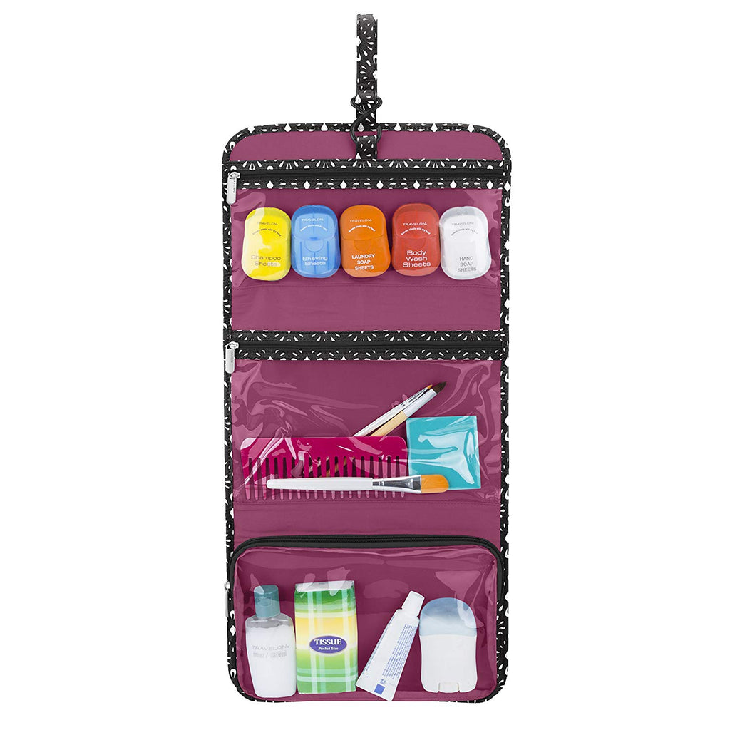 Travelon Trifold Hanging Toiletry Kit Geo Shells