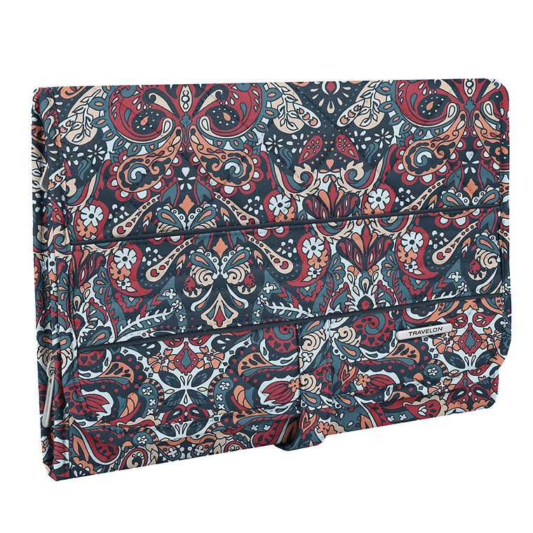 Travelon Trifold Hanging Toiletry Kit Summer Paisley