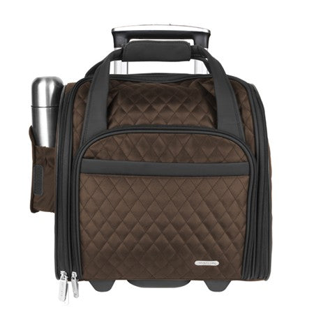 Travelon Underseat Carry-on Wheeled Luggage Chocolate