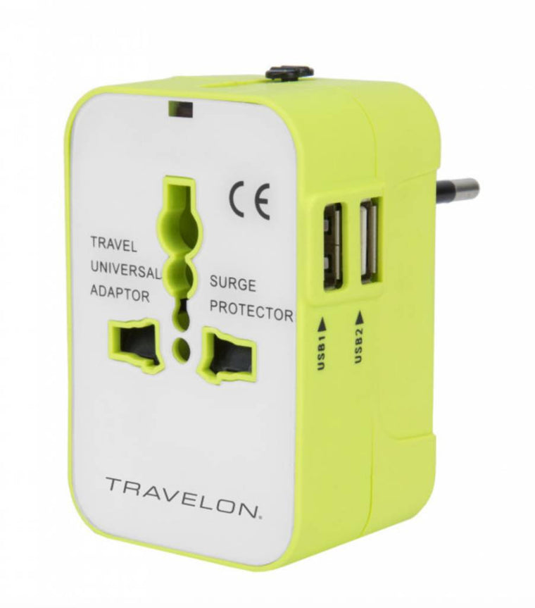 Travelon Worldwide Travel Adaptor with USB Chargers
