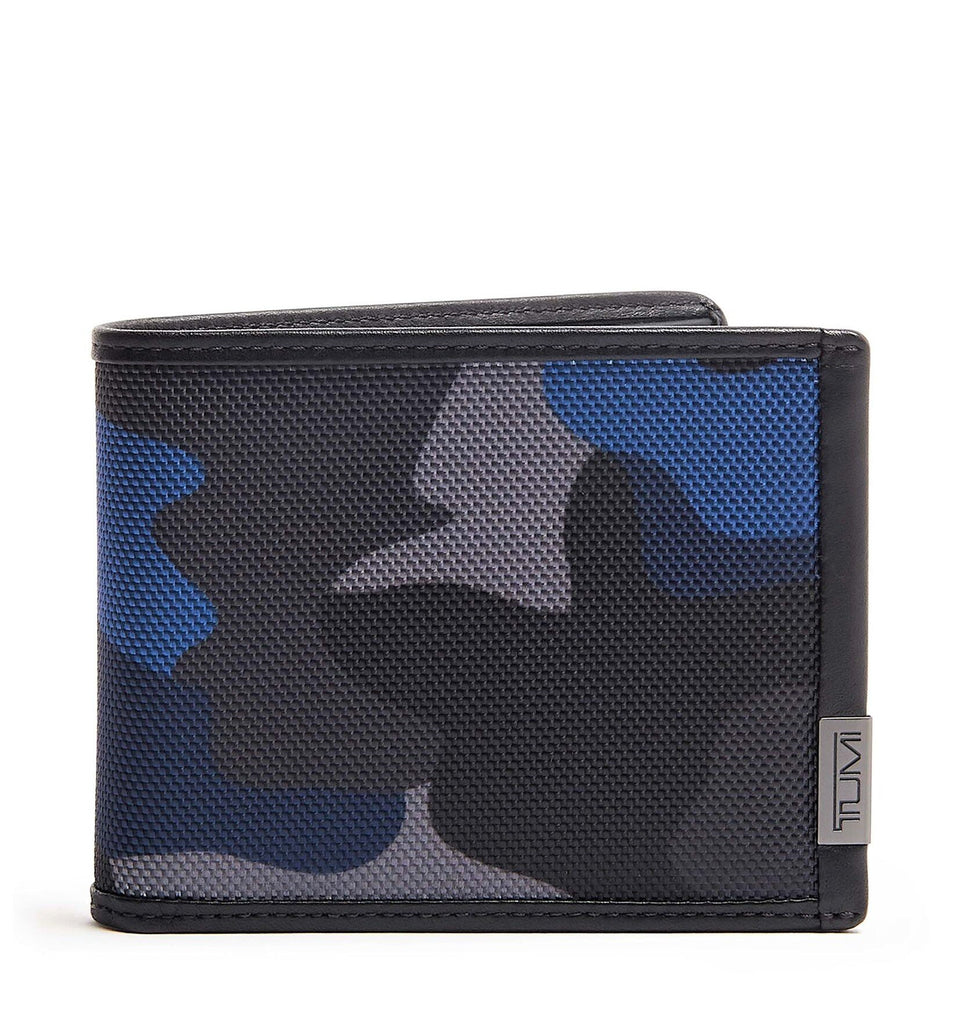 Tumi Alpha Double Billfold Wallet Blue Camo