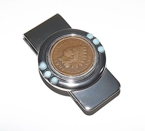 U.S. Mint Coins Genuine Indian Head Penny Metal Money Clip