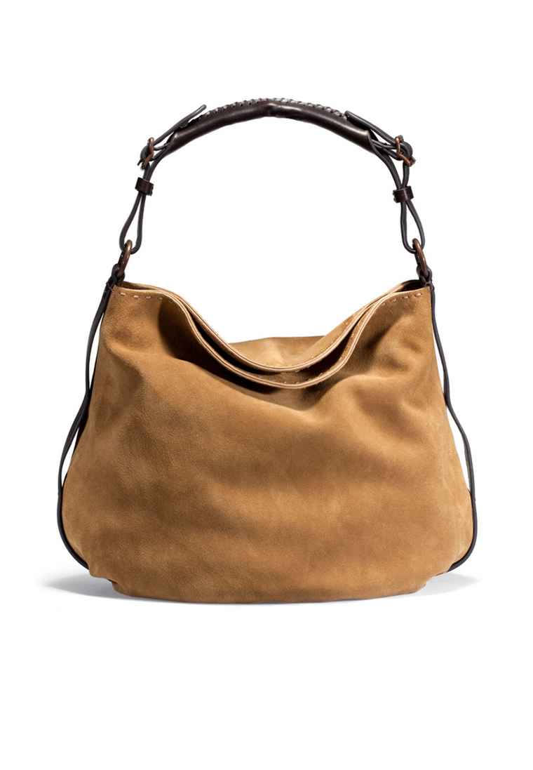 UGG Australia Women's Suede Leather Heritage Hobo Hand Bag Chestnut