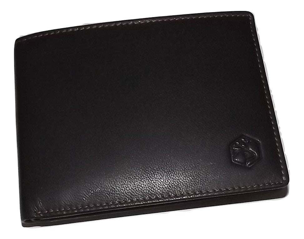 Valentina In Pell Leather Large Bifold Passcase Wallet Dark Brown