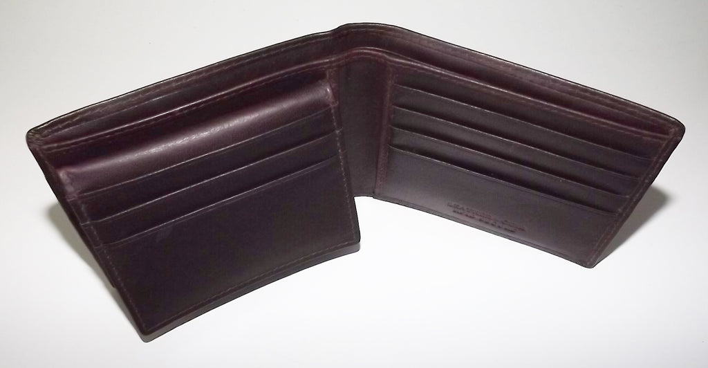 Mancini Leather RFID Protected Bifold Passcase Wallet Brown