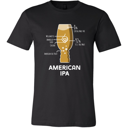 American IPA Grain Bill T-Shirt