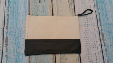 Small Canvas Colored Bags with zipper