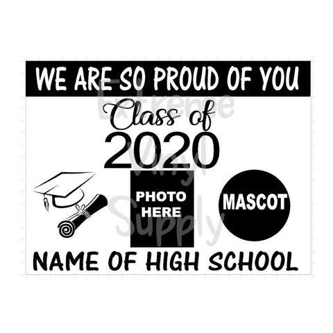 BLANK High School Senior Sign