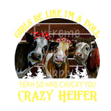 Heifer Ready to Press Transfer or Sublimation