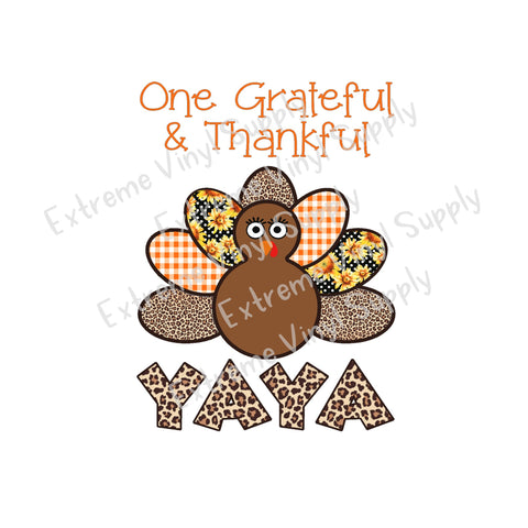 Customizable One Grateful Yaya