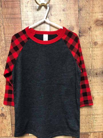 Youth Buffalo Plaid Raglans