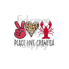Crawfish Ready to Press Transfer or Sublimation