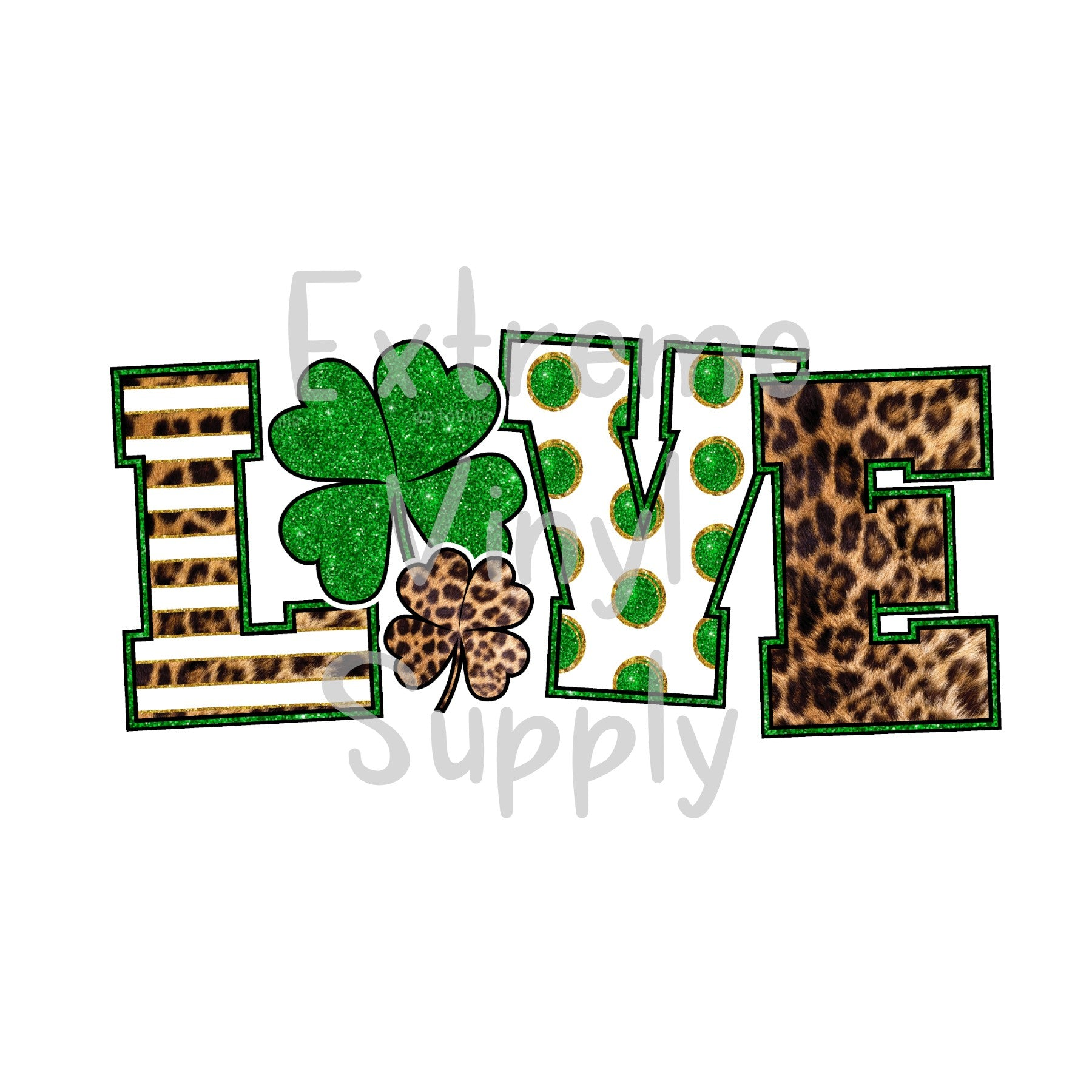 St. Patrick's Day Printed HTV Transfer or Sublimation