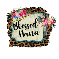 Blessed Nana Animal Print