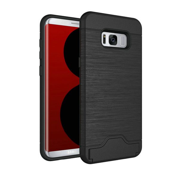 Samsung Galaxy S8 S8 Plus Dirt Resistant Silicon Phone Case with Card Slot
