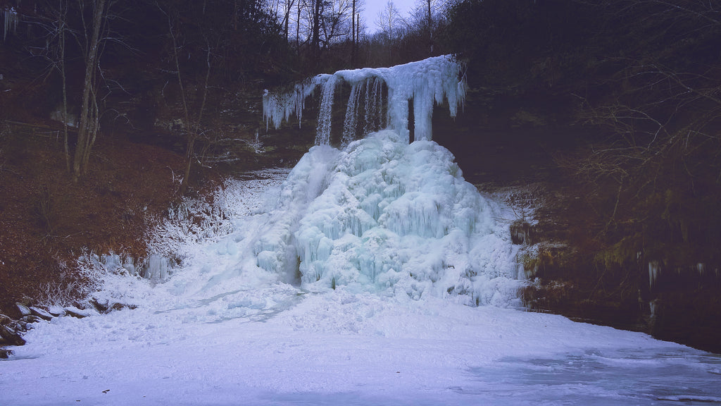 Amazing Frozen Waterfall: Cascades Winter Hiking Guide