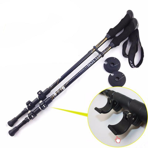 Yuetor Anti-Shock Trekking Pole with External Speed Lock (1 or 2 Poles)