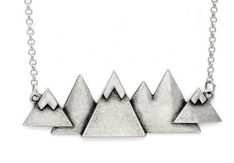 Snow Covered Mountain Range Necklace