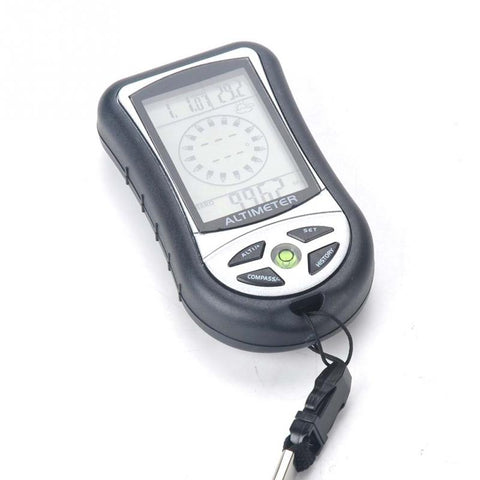 Digital LCD 8 In 1 Hiking Assistant with Compass, Altimeter, Barometer, Thermometer & More