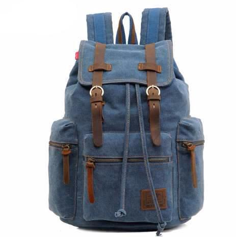 Vintage Canvas Rucksack for Men and Women