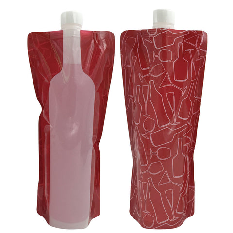 Reusable Portable Wine Bottle Five Count