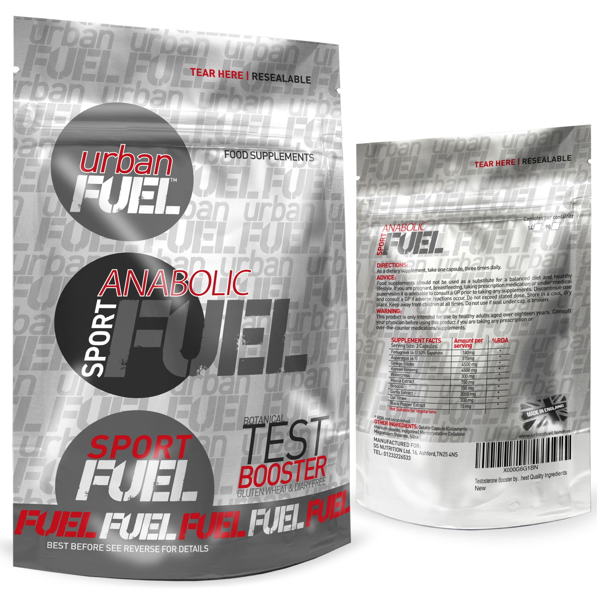Sport Anabolic Fuel Testosterone Booster By Urban Fuel