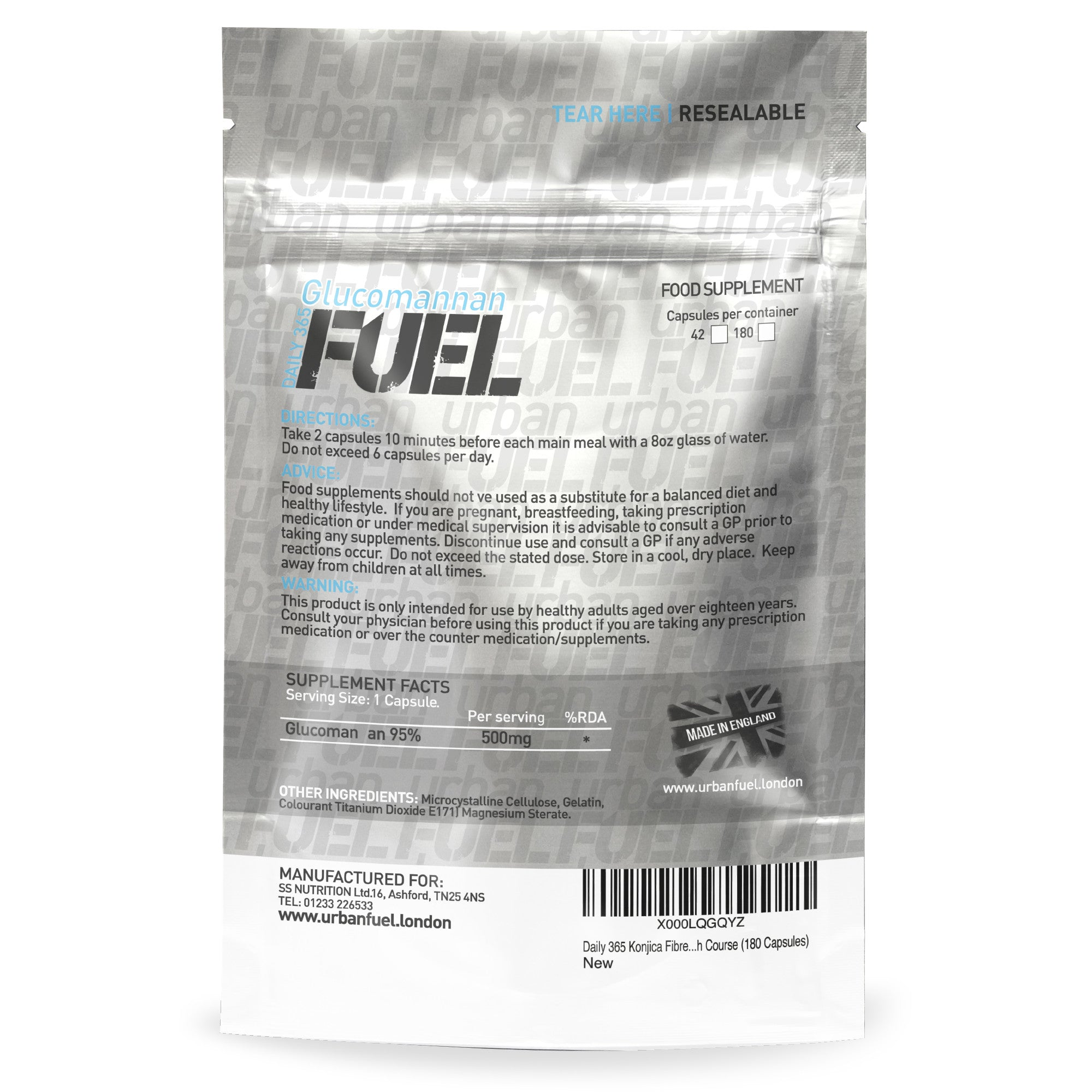 Active Glucomannan Konjac Fibre By Urban Fuel