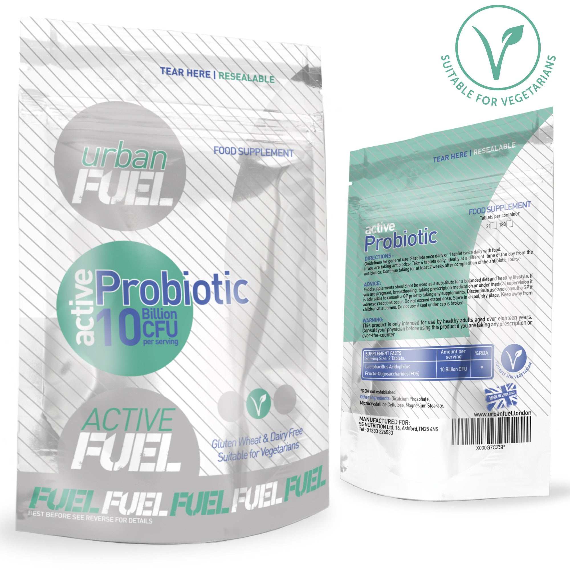 Active Probiotic 10 Billion CFU By Urban Fuel