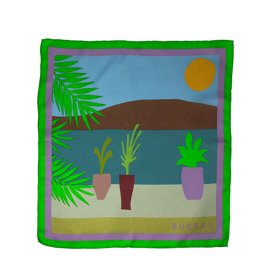 Under The Palms Pocket Squares