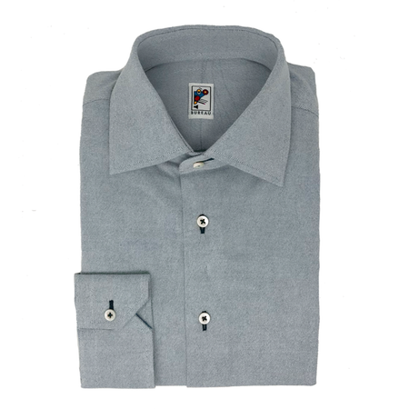 Soft Blue Flannel Dress Shirt