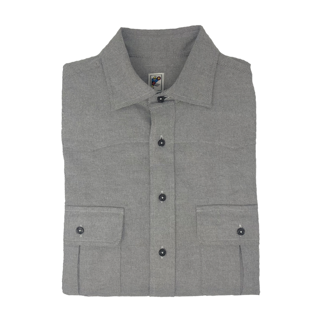 Grey Western Flannel