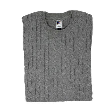Ash Grey Cable Knit Sweater