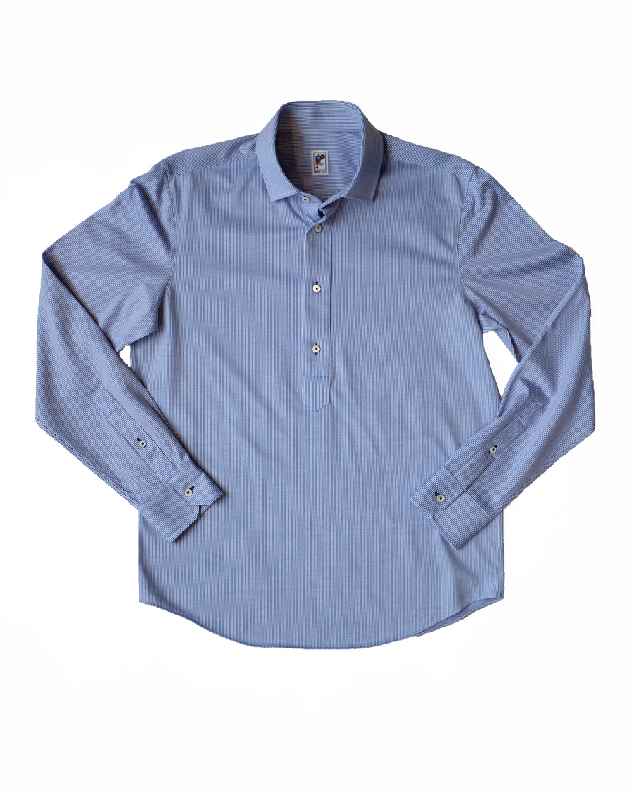 Blue Stripe Popover Shirt