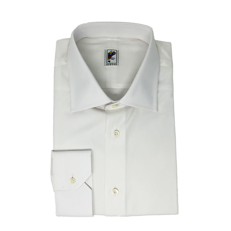 House Cloth White Barrel Cuff Dress Shirt