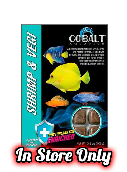 Cobalt Frozen Shrimp & Vegi Cubes  (IN-STORE PICKUP ONLY)