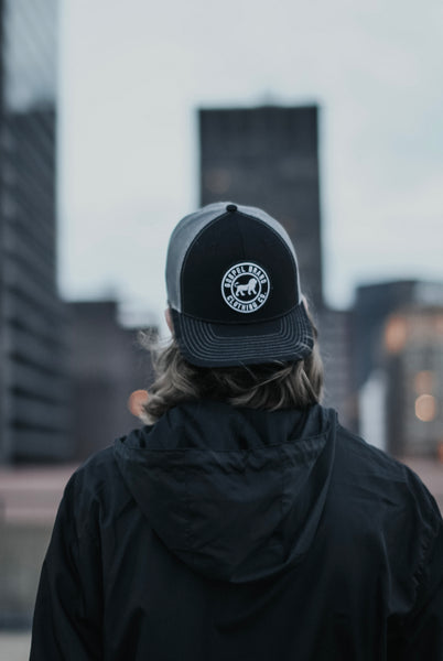 Mesh-Back Trucker Circle Patch Hat