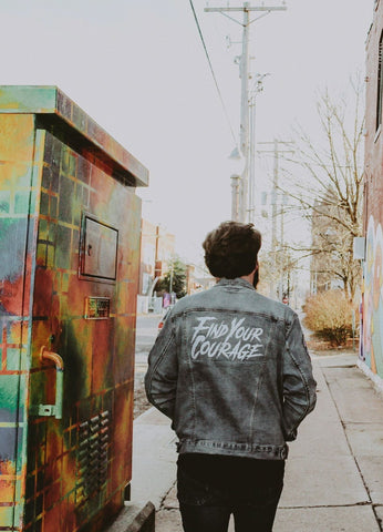 Find Your Courage Denim Jacket