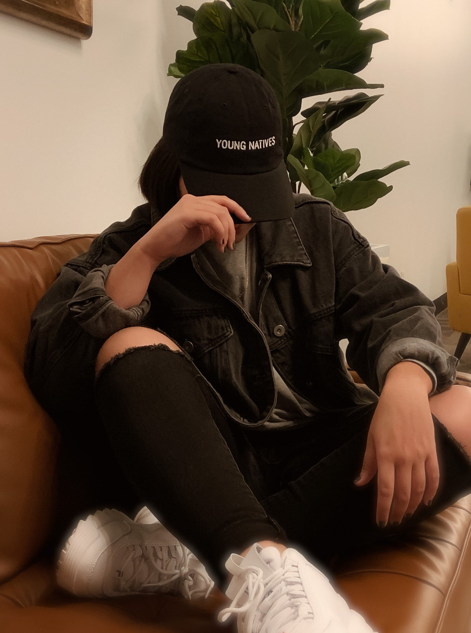 YOUNG NATIVES Text Dad Hat