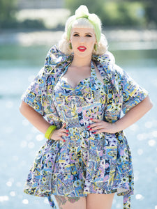 Nani Wahine Playsuit & Coverup Set, TikiTastic - miss nouvelle vintage inspired pinup rockabilly 1950s retro fashion