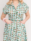 Emily Ann Dress, Atomic - miss nouvelle vintage inspired pinup rockabilly 1950s retro fashion