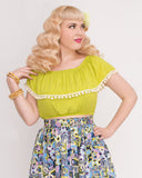 Shimmy Crop, Lime - miss nouvelle vintage inspired pinup rockabilly 1950s retro fashion