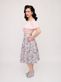Twirl Skirt, Sunsoaked - miss nouvelle vintage inspired pinup rockabilly 1950s retro fashion