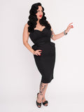 Darla Dress, Black - miss nouvelle vintage inspired pinup rockabilly 1950s retro fashion
