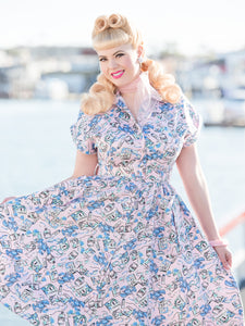 Emily Ann Dress, Sunsoaked - miss nouvelle vintage inspired pinup rockabilly 1950s retro fashion