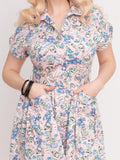 Emily Ann Dress Sunsoaked Pink Lobster Cat Eye Sunglasses Mid Century Modern Vintage Inspired Pinup Clothing Retro Rockabilly 1950s Made in the USA