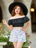 Shimmy Crop, Black - miss nouvelle vintage inspired pinup rockabilly 1950s retro fashion