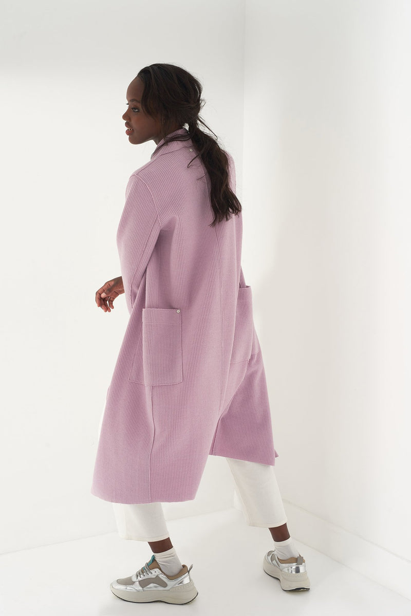 HEIDI LAVENDER - Brushed Knit Duster