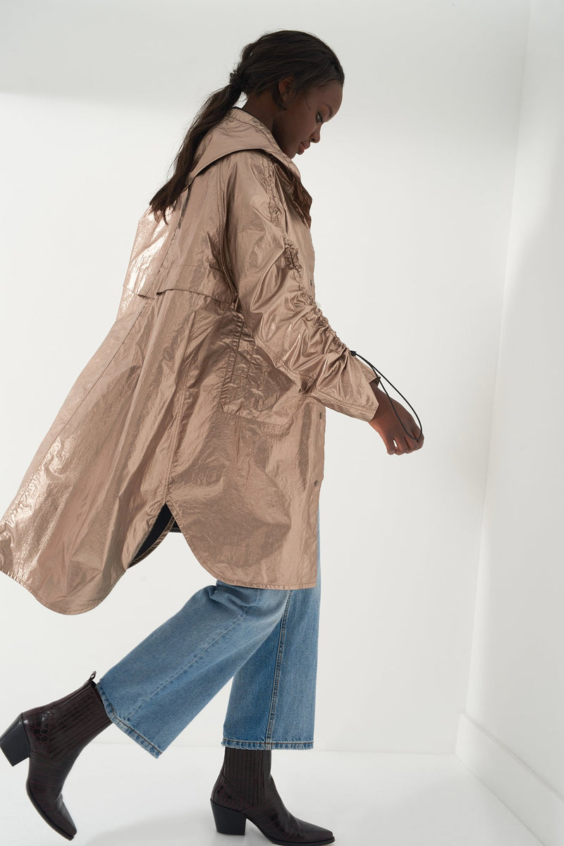 HARA BRONZE - Iridescent Foil Raincoat