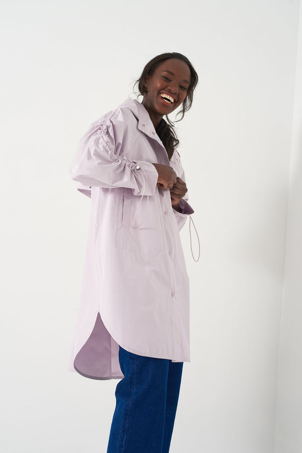 HARA LAVENDER - Oversized Raincoat