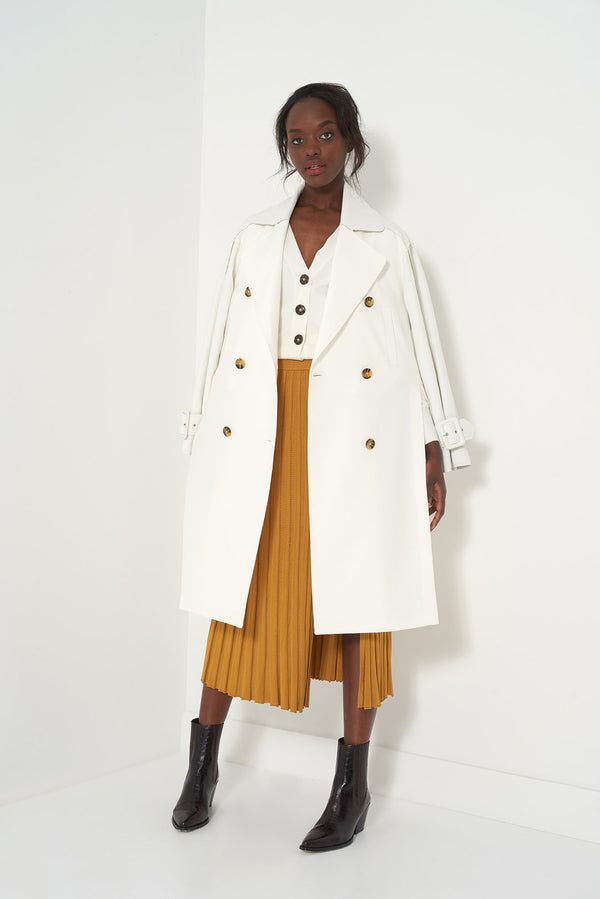 HATTY WHITE - Modern Trench Coat